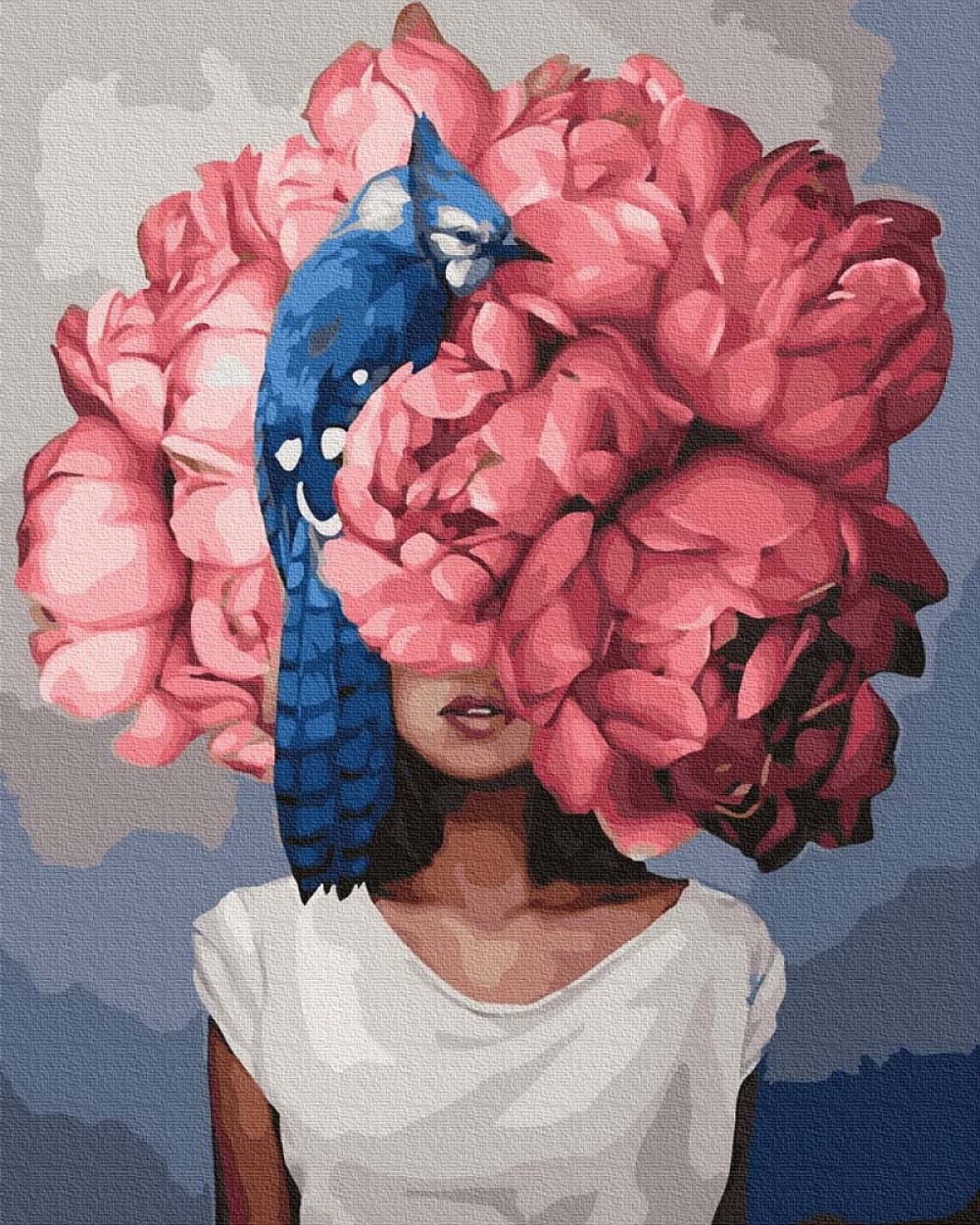 Pictura pe numere - Mirajul florilor 50 x 65 cm