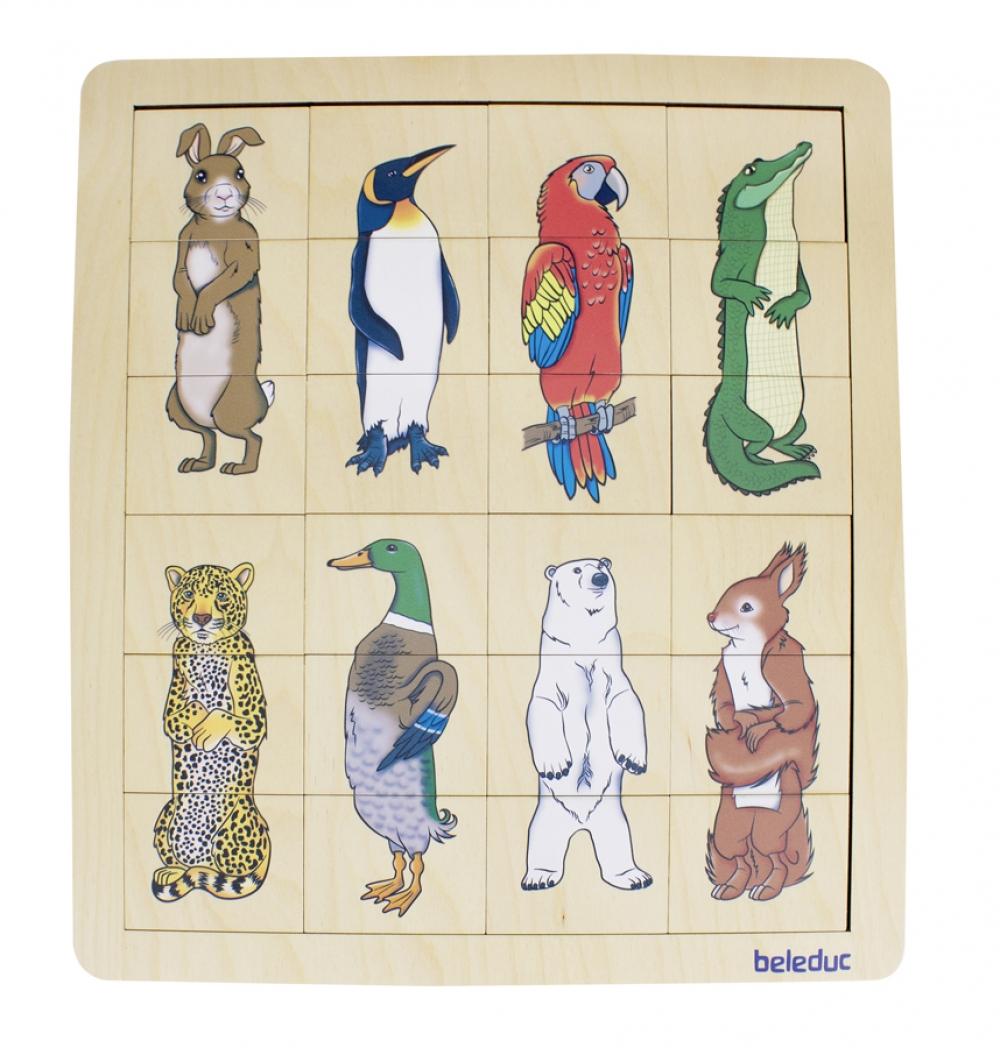 Puzzle Amestecă și potrivește - Regatul animalelor